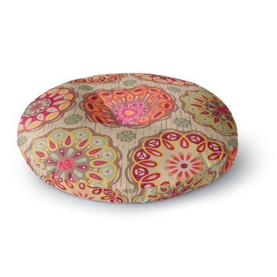 Suzie Tremel Festival Folklore Vintage Floral Round Floor Pillow Size: 26 x 26