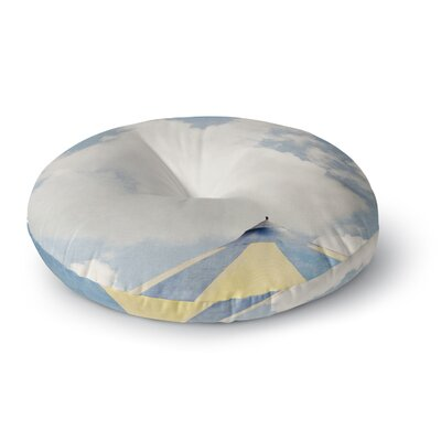 Susannah Tucker Carnival Tent Sky Clouds Round Floor Pillow Size: 23 x 23