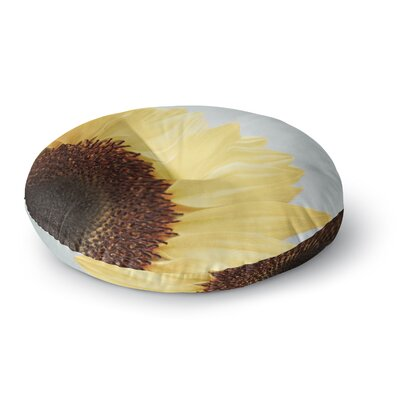 Susannah Tucker Sunshine Sunflower Round Floor Pillow Size: 23 x 23