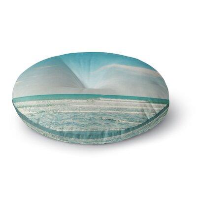 Susannah Tucker The Teal Ocean Round Floor Pillow Size: 26 x 26