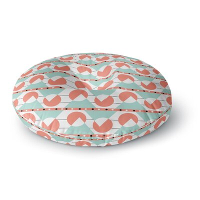 Stephanie Vaeth Geometric Round Floor Pillow Size: 26 x 26