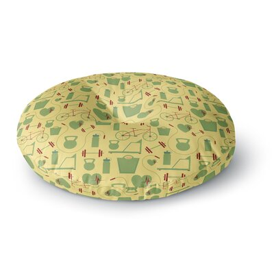 Stephanie Vaeth Fitness Sports Round Floor Pillow Size: 23 x 23