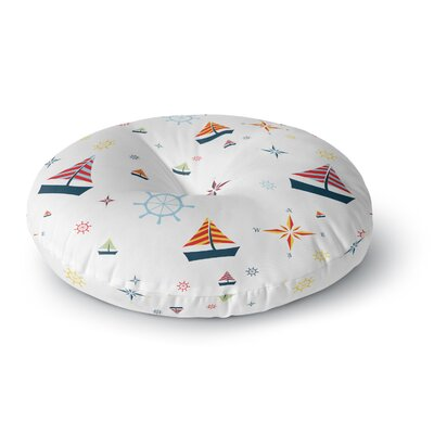 Stephanie Vaeth Sailing Coastal Round Floor Pillow Size: 23 x 23