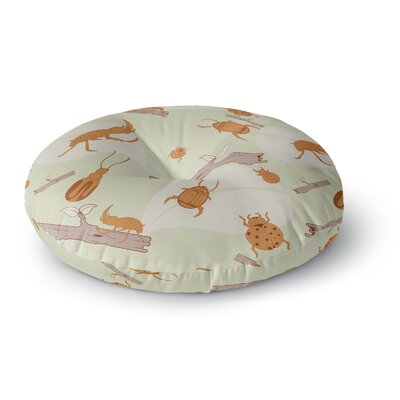 Stephanie Vaeth Beetles Nature Round Floor Pillow Size: 26 x 26