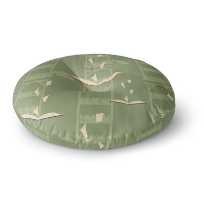 Stephanie Vaeth Library Digital Round Floor Pillow Size: 26 x 26