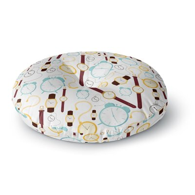 Stephanie Vaeth Clocks Round Floor Pillow Size: 26 x 26