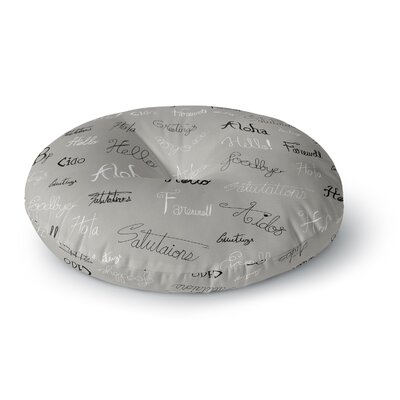 Stephanie Vaeth Hellos and Goodbyes Round Floor Pillow Size: 23 x 23