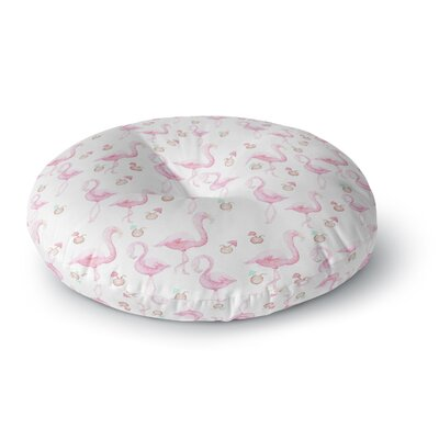 Stephanie Vaeth Flamingos Painting Round Floor Pillow Size: 23 x 23
