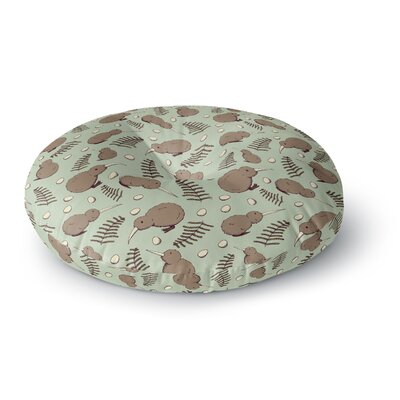 Stephanie Vaeth Kiwi Bird Illustration Round Floor Pillow Size: 23 x 23