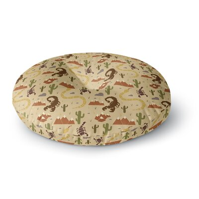 Stephanie Vaeth Desert Life Illustration Round Floor Pillow Size: 23 x 23