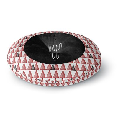 Skye Zambrana I Want You Round Floor Pillow Size: 26 x 26