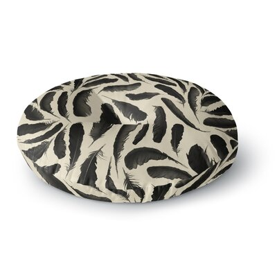 Skye Zambrana Feather Pattern Round Floor Pillow Size: 23 x 23