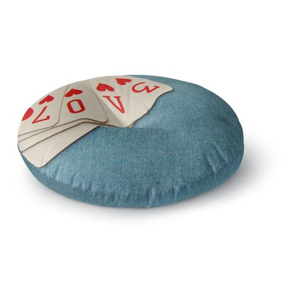 Skye Zambrana Love Round Floor Pillow Size: 23 x 23