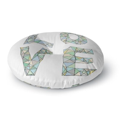 Skye Zambrana Four Letter Word Round Floor Pillow Size: 26 x 26
