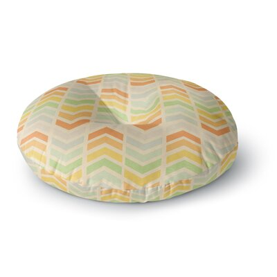 Skye Zambrana Infinity Chevron Round Floor Pillow Size: 23 x 23
