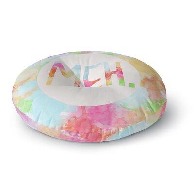 Skye Zambrana Meh Rainbow Watercolor Round Floor Pillow Size: 26 x 26