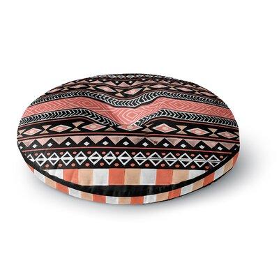 Skye Zambrana Mojave Black Round Floor Pillow Size: 23 x 23