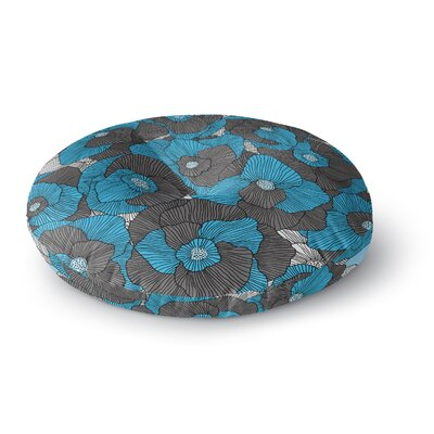 Skye Zambrana In Bloom Round Floor Pillow Size: 23 x 23
