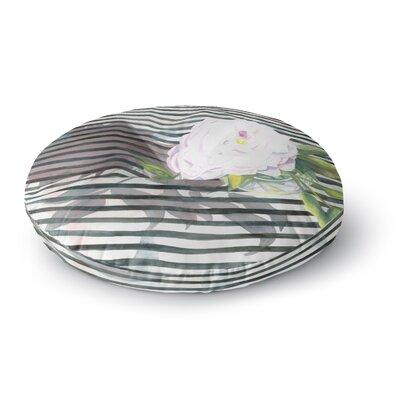 S. Seema Z Peony n White Black Round Floor Pillow Size: 23 x 23