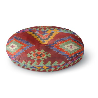 S Seema Z TAPESTRY ETHNIC Round Floor Pillow Size: 26 x 26