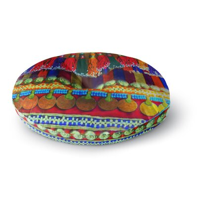 S Seema Z BOHO MANIA Ethnic Round Floor Pillow Size: 26 x 26