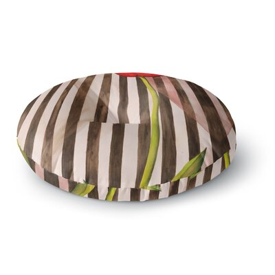 S Seema Z Classic rose Stripes Round Floor Pillow Size: 23 x 23