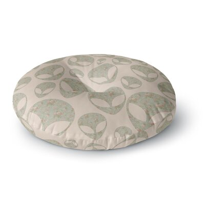 Alias Abducting the Flowers Round Floor Pillow Size: 26 x 26