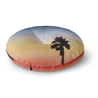 Infinite Spray Art Carlsbad Sunset Coastal Painting Round Floor Pillow Size: 26 x 26