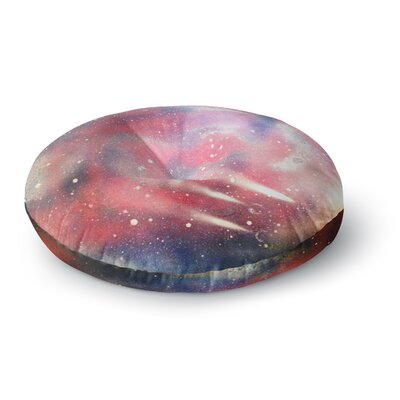 Infinite Spray Art Cascade Swirl Round Floor Pillow Size: 23 x 23
