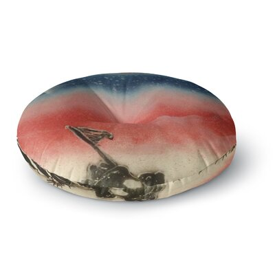 Infinite Spray Art Veterans Day Round Floor Pillow Size: 26 x 26