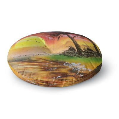 Infinite Spray Art Maui Sunrise Beach Round Floor Pillow Size: 23 x 23