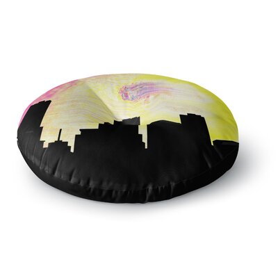 Infinite Spray Art Skylined Round Floor Pillow Size: 23 x 23
