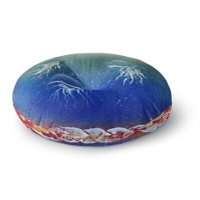 Infinite Spray Art Underwater Aliens Jellyfish Round Floor Pillow Size: 23 x 23