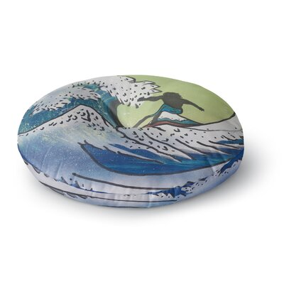 Infinite Spray Art Hokusai Remake Round Floor Pillow Size: 26 x 26