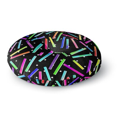 Noonday Design Confetti Party Round Floor Pillow Size: 23 x 23