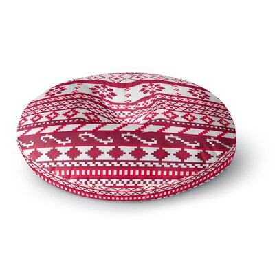 Noonday Design Red Fairisle Christmas Pattern Round Floor Pillow Size: 26 x 26