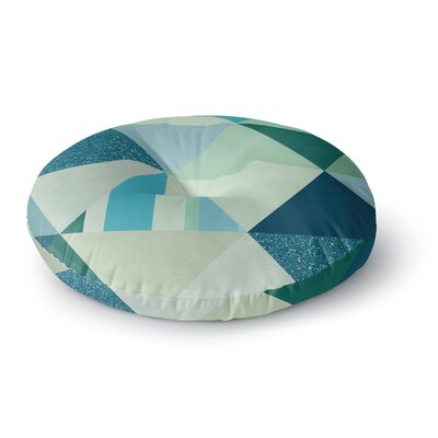 Noonday Design The Triangle Blues Geometric Round Floor Pillow Size: 26 x 26