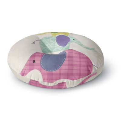 Noonday Design Balancing Act Kids Round Floor Pillow Size: 23 x 23