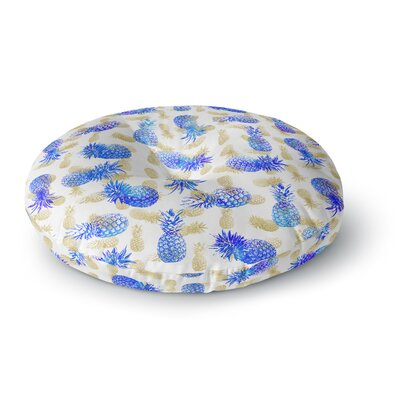 Noonday Design Pineapple Party Illustration Round Floor Pillow Size: 26 x 26