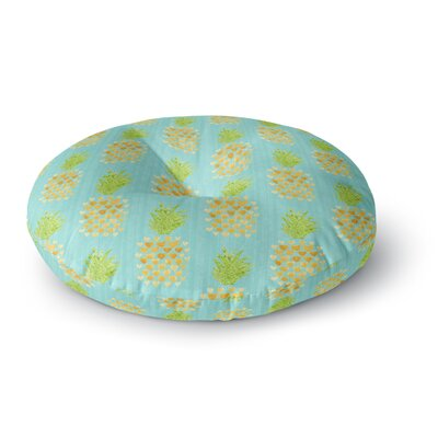 Noonday Design Heart Pineapples Painting Round Floor Pillow Size: 26 x 26
