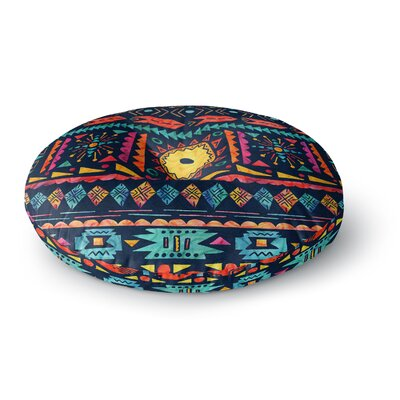 Noonday Design Tribal Sunshine Digital Round Floor Pillow Size: 26 x 26