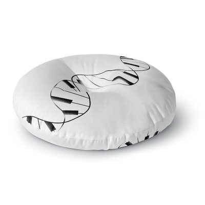 Tobe Fonseca DNA Piano Round Floor Pillow Size: 26 x 26