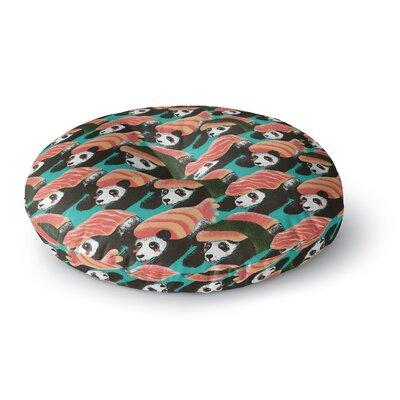 Tobe Fonseca Sushi Panda Round Floor Pillow Size: 26 x 26