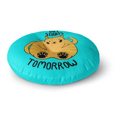 Tobe Fonseca Diet Starts Tomorrow Cat Round Floor Pillow Size: 23 x 23