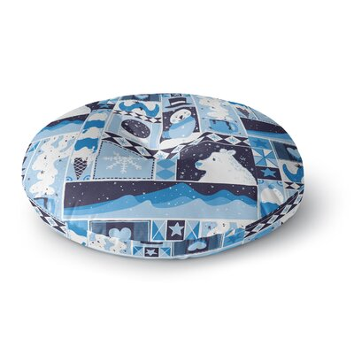 Tobe Fonseca Winter Seasonal Round Floor Pillow Size: 23 x 23