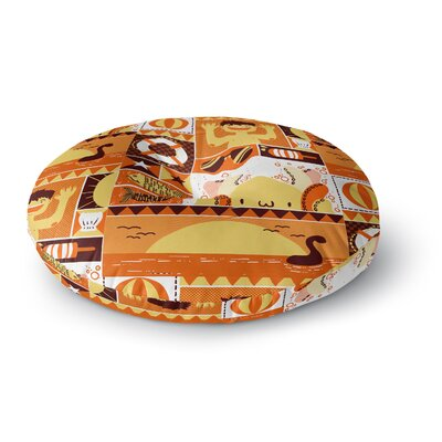 Tobe Fonseca Summer Seasonal Round Floor Pillow Size: 23 x 23