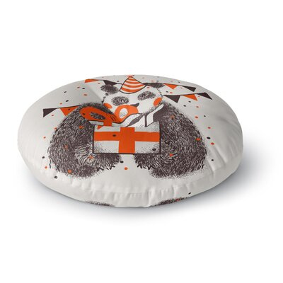 Tobe Fonseca Happy Birthday Round Floor Pillow Size: 26 x 26
