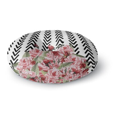 Tobe Fonseca Spring Pattern Arrow Pink Illustration Round Floor Pillow Size: 23 x 23
