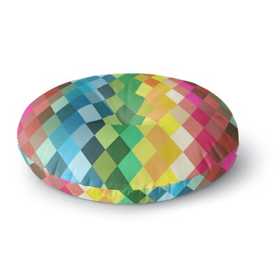 Tobe Fonseca Art Name Digital Diamond Round Floor Pillow Size: 26 x 26