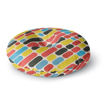 Tobe Fonseca Colorful Trend Pattern Digital Round Floor Pillow Size: 23 x 23